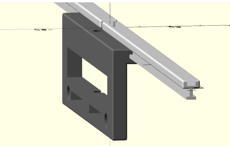 3D Printable Parametric Dipole Antenna t-slot Element Holder